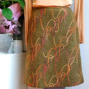 Veronique D'Aragon wool blend skirt, 10